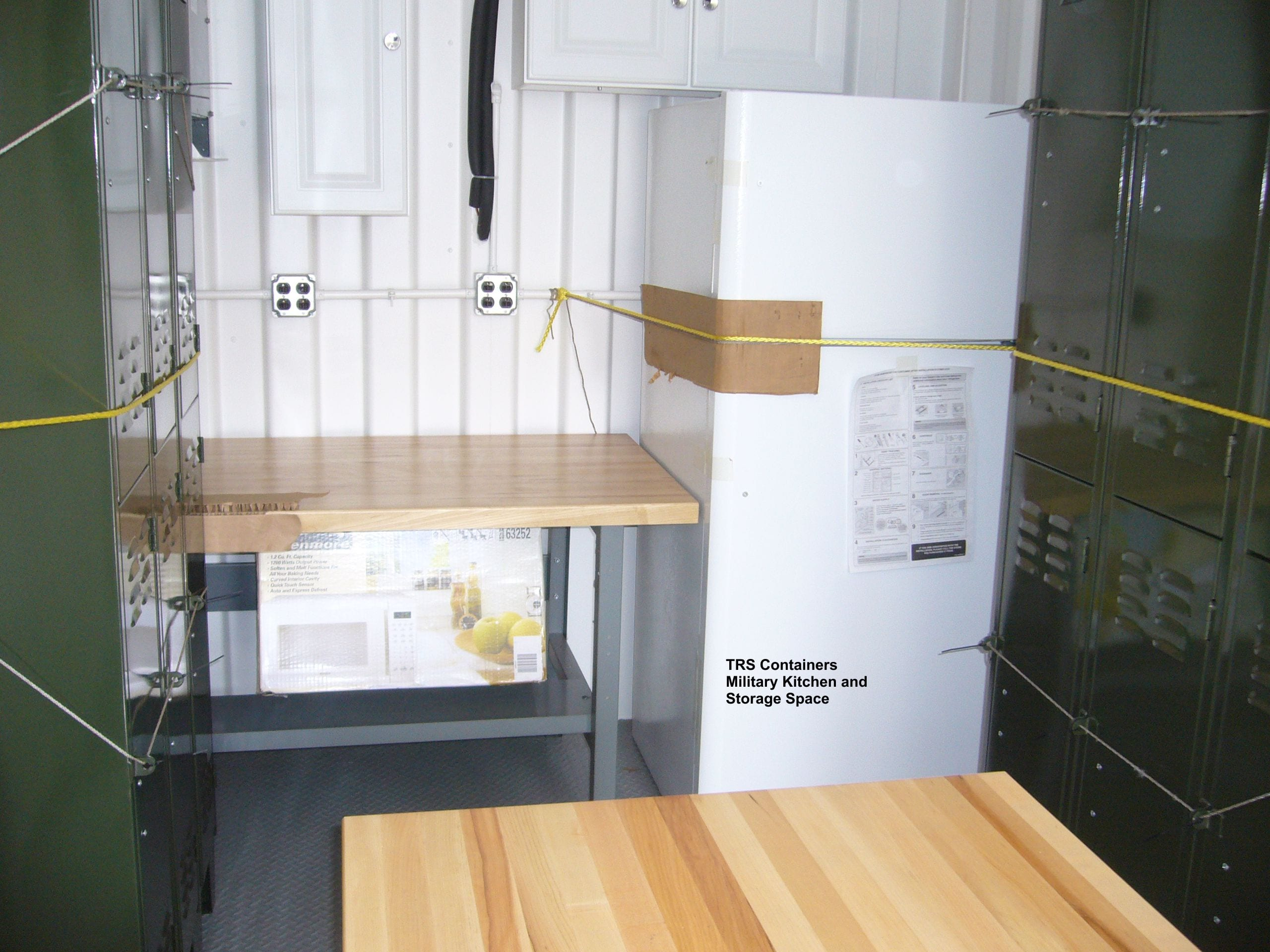 TRS Containers can take a standard steel ISO container and convert it into a kitchen